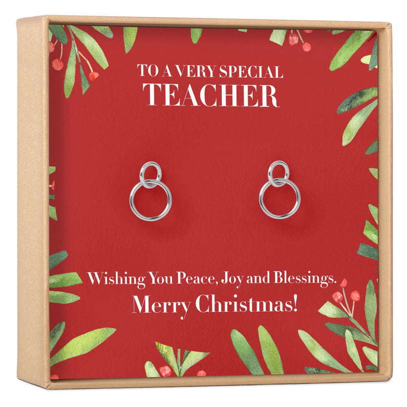 Christmas Gift for Teacher Earrings - Dear Ava, Jewelry / Earrings