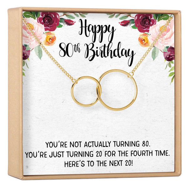 80th Birthday Gift Necklace