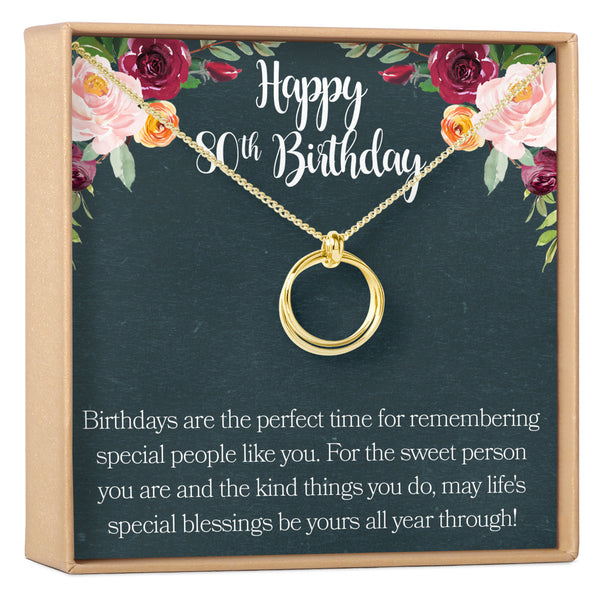 80th Birthday Gift Necklace - Dear Ava, Jewelry / Necklaces / Pendants