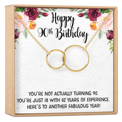 90th Birthday Gift Necklace