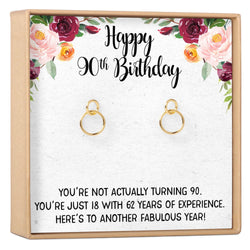 90th Birthday Gift Earrings