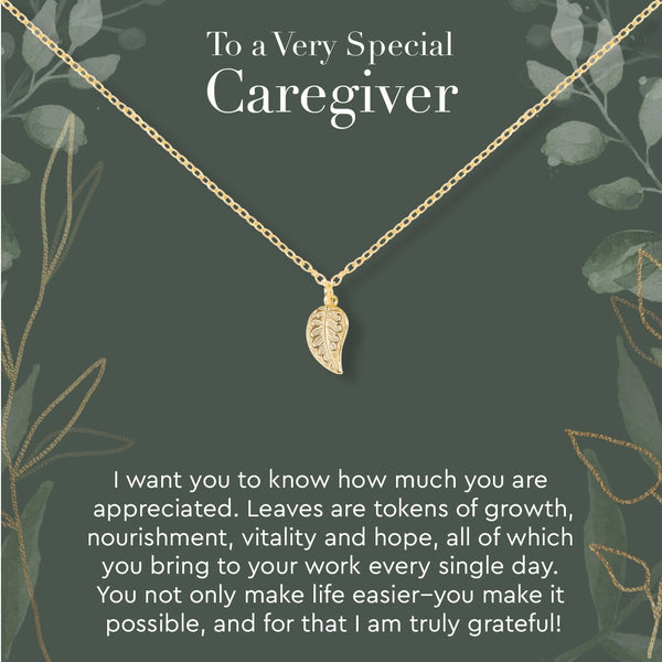 Caregiver Leaf Necklace - Dear Ava, Jewelry / Necklaces / Pendants