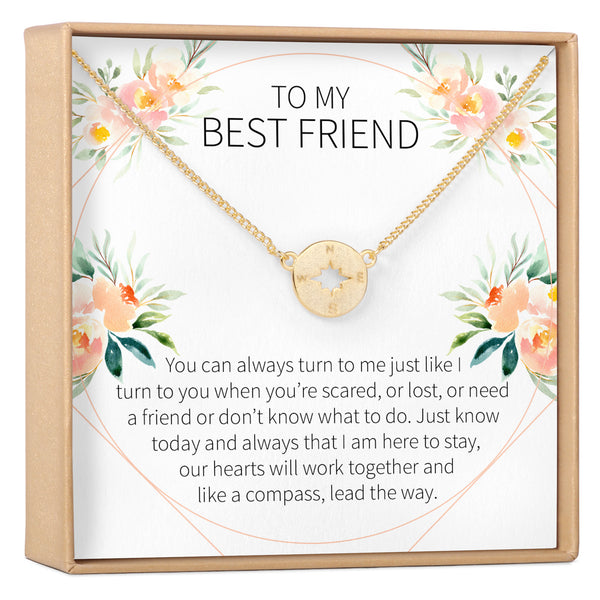 Best Friend Compass Necklace - Dear Ava, Jewelry / Necklaces / Pendants