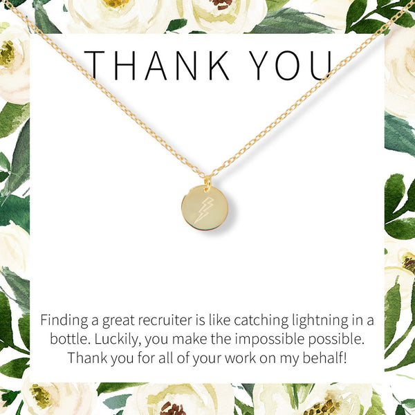 Recruiter Lightning Necklace