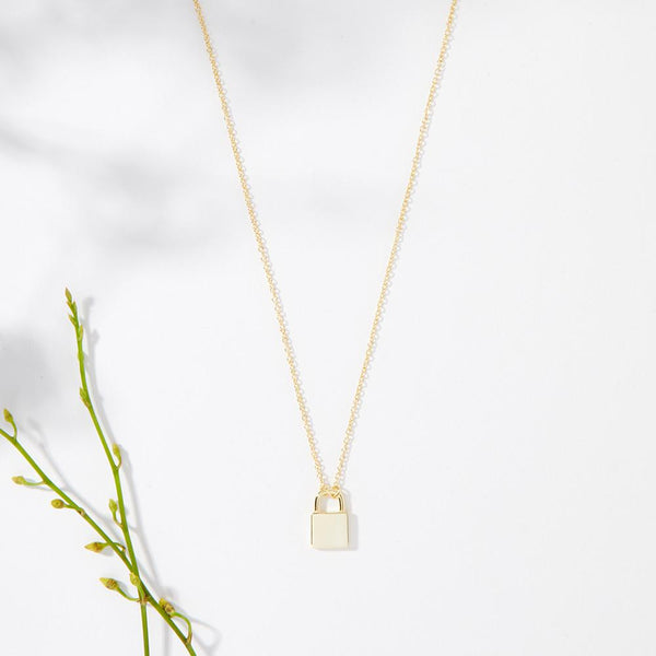 Long Distance Friendship Lock Necklace