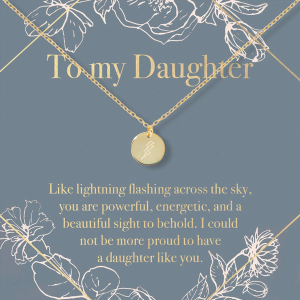 Daughter Lightning Necklace - Dear Ava, Jewelry / Necklaces / Pendants
