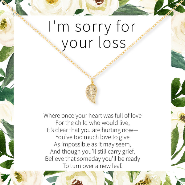 Miscarriage Leaf Necklace