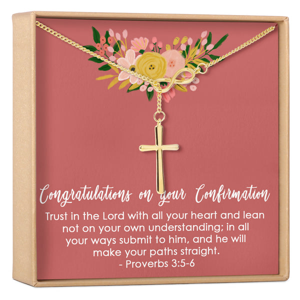 Confirmation Cross Necklace - Dear Ava, Jewelry / Necklaces / Pendants