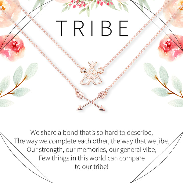 Tribe Tent and Arrows Bohemian Necklace Set