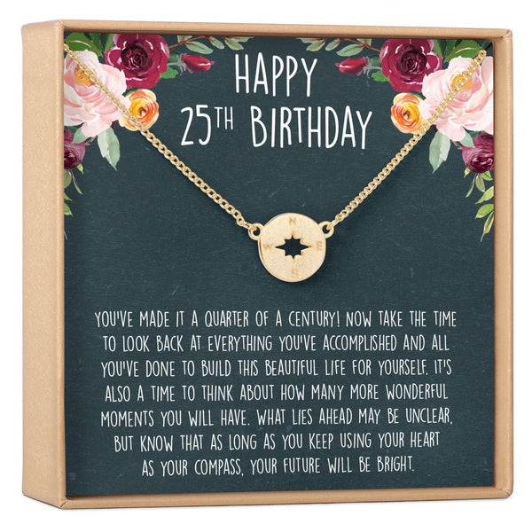 25th Birthday Necklace - Dear Ava, Jewelry / Necklaces / Pendants