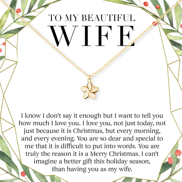 Wife Gifts Christmas: Christmas Gift For Wife: Present, Necklace, Jewelry, Xmas