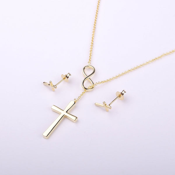 Christmas Gift for Sister Cross earring and Necklace Set Jewelry Set