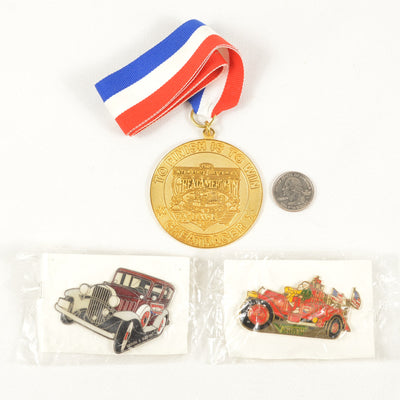 1991 Interstate Batteries Great American Race Great Racer Medallion w/2 Car Pins