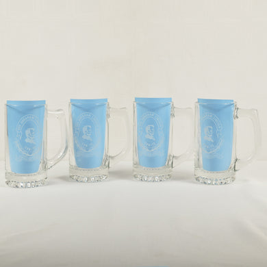 USS Abraham Lincoln CVN-72 Shall Not Perish Beer Mugs - Set of 4 - USN U.S. Navy
