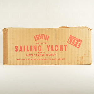Vintage Irwin Deluxe Sailing Yacht -1954-  Made in USA - All Original W/Box, Ppw