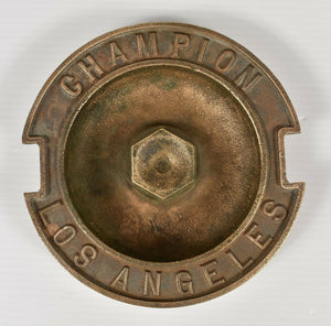 "Vintage Champion Sprinkler Brass/Bronze Giant Sprinkler Ashtray 7"" Diameter"