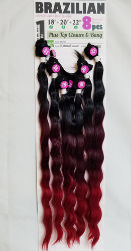 Brazilian natural  8pc (18