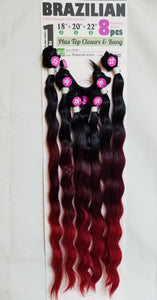 "Brazilian natural  8pc (18"" 20"" 22"")"