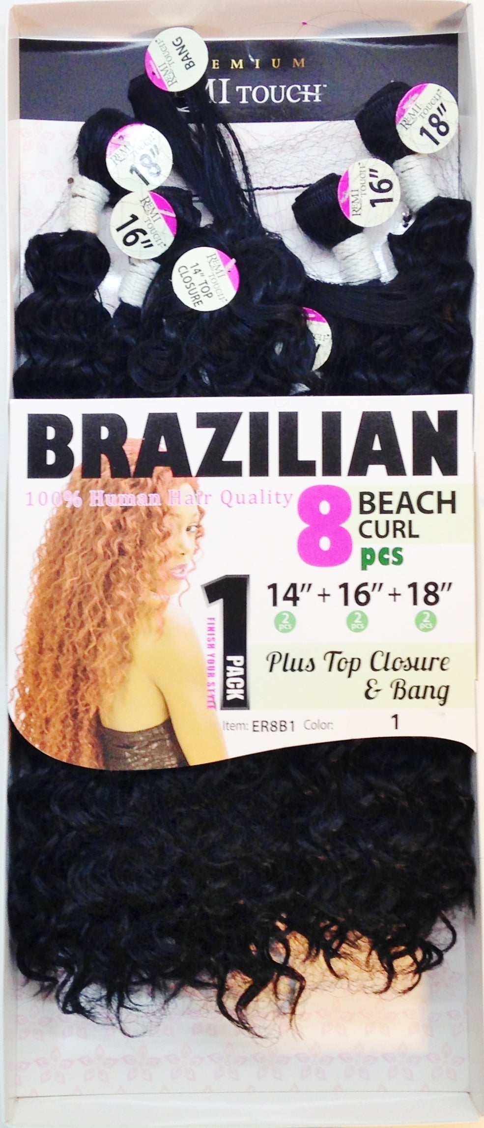 Brazilian beach curl 8pc (14