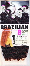 "Brazilian beach curl 8pc (14"" 16"" 18"")"