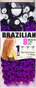 "BRAZILIAN BEACH CURL 8PC(14"" 16"" 18"")"