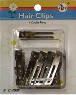 Double prong clip