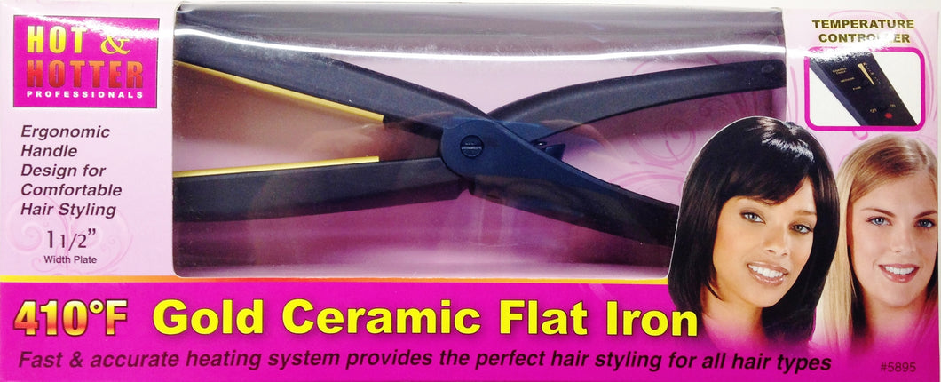 GOLD CERAMIC FLAT IRON 1 1/2