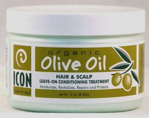 Icon olive oil hair treat cream 10 oz