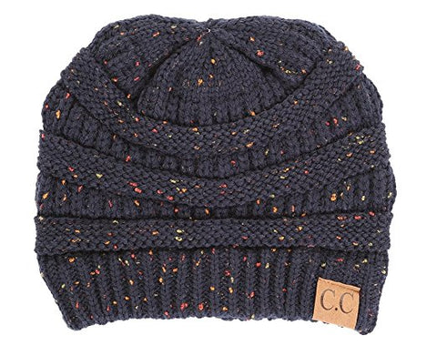C.C Exclusives Classic Fit Beanie - Confetti Navy