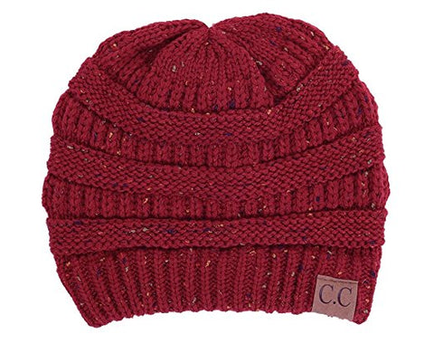 C.C Exclusives Classic Fit Beanie - Confetti Burgundy
