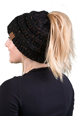 C.C Exclusives BeanieTail - Confetti Black