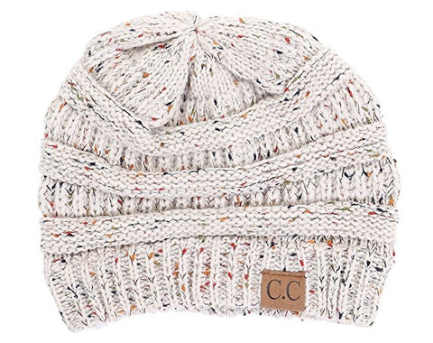 C.C Exclusives Classic Fit Beanie - Confetti Oatmeal