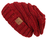C.C Exclusives Oversized Slouchy Beanie - Confetti Burgundy