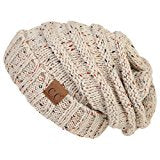C.C Exclusives Oversized Slouchy Beanie - Confetti Oatmeal