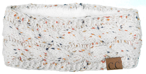 C.C Exclusives Fuzzy Lined Head Wrap - Confetti Oatmeal