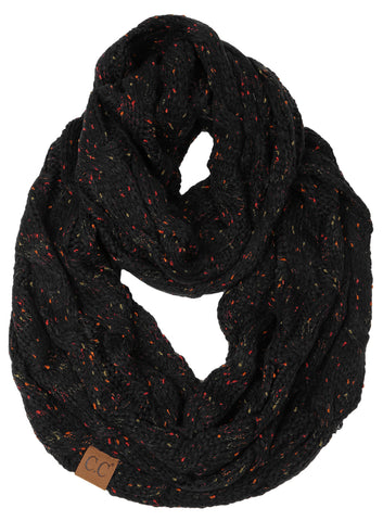 C.C Exclusives Infinity Scarf - Confetti Black