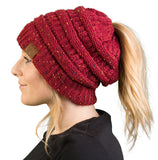 C.C Exclusives BeanieTail - Confetti Burgundy