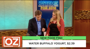 Daphne and Dr. Oz Talk About Water Buffalo Yogurt
