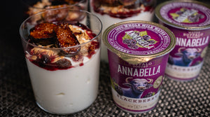 Warm Baked Figs With Pernod, Candied Walnuts & Annabella Yogurt