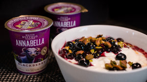 Annabella Water Buffalo Yogurt with Blueberries, Hazelnuts and Maple Syrup