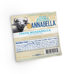 Fresh Water Buffalo Mozzarella (Low Moisture - Vacum Packed) / 8.8 oz