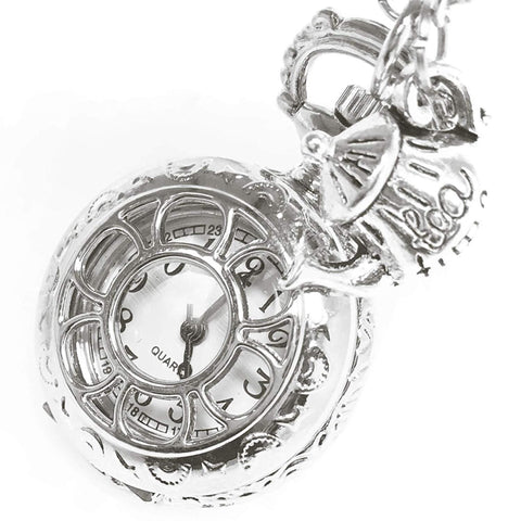 Steampunk Pocket Watch with Tea Pot