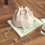 Leather and Lace Handbag