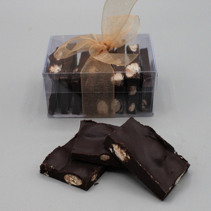 70% Dark Chocolate Almond Bark - Small Gift Box