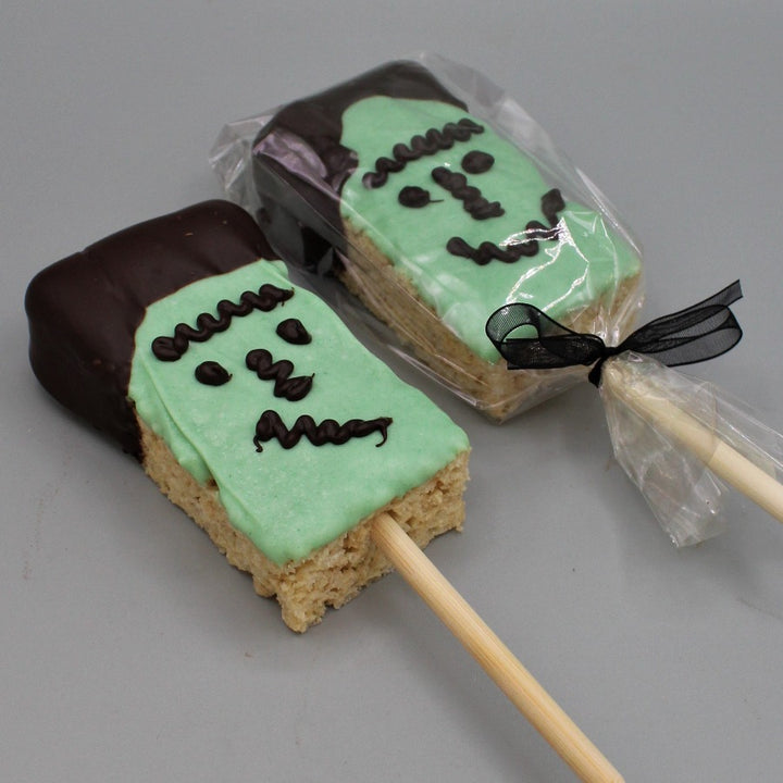 Rice Krispie Frankenstein Pop