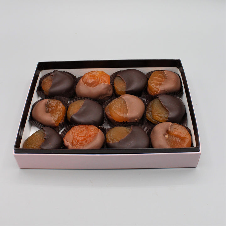 Half Dipped Apricots - Box of 12