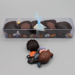 Chocolate Shells on a Bed of Rocks