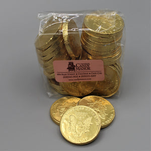Milk Chocolate Foil Gold Coins