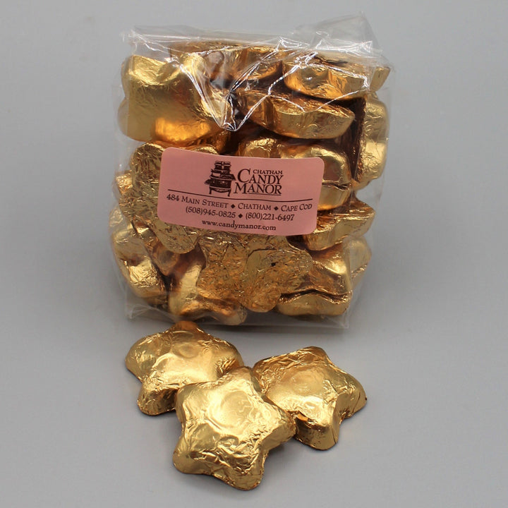 Milk Chocolate Foil Gold Stars