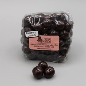 Raspberry Cordials - Dark Chocolate Covered